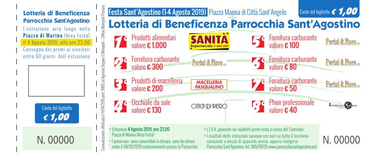 Lotteria Festa Sant'Agostino 2019